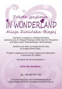 Magiczna promocja IN WONDERLAND Alicja Zielińska-Biegaj