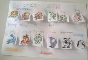 A calendar 2